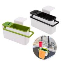 Hooks & Rails Kitchen Storage Racks Kitchenware Draining Sink Aid Organizer Brush Sponge Cleaning Cloth Holder Organization Container