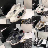 Gucci shoes 2021 En Kaliteli Erkek Deri Rahat Ayakkabı kadın Platformları Baskı Desen Çift Ayakkabı Klasik Moda Kişilik Vahşi Sneakers