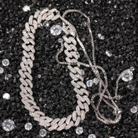 Fashion Out Copper Micro Pave Zircon Miami Cuban Chain Necklace Adjustable Luxury Ladies Jewelry Chains