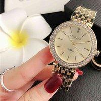 مصمم الفاخرة العلامة التجارية ساعات reloj موهير الذهب للمرأة الأزياء حجر الراين المرأة الكوارتز المعصم السيدات relogio feminino