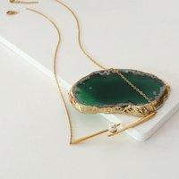 Chokers Yaonuan Unieke Design Mode-sieraden Titanium stalen vergulde ketting voor vrouwen parel ingelegd tussen eetstokjes als een glimlach