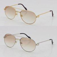Verkauf von Vollrahmen Metall Adumbral Sonnenbrille Männer berühmt 1191437 Unisex UV400 Objektiv Sonnenbrille, die männlich und weibliche Brillen fahren