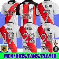 River Assiette Soccer maillots 120e anniversaire Chemise M.Suarez J.Alvarez Carrascal Jersey Football Jersey Pratto Perez de la Cruz Borre Chemises Homme Kit enfants 21/22 Camiseta Carpe