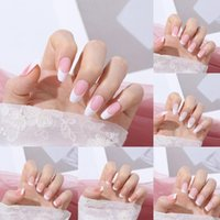 Nail Art Kits Press On Nails Full Cover Artificial Manicure Tool French Square Head False Fake Tips Wearable