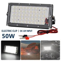 50pcs DC12V 50W Outdoor LED Floodlight Cold White Waterproof Reflector Light Garden Wall Lamp Street Security Lighting