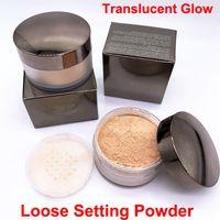 Réglage translucide Poudre de poudre Glow Maquillage Matte Pouder Libre Fixante 29g Poudre Gauleuse Poudre légère Perle Lisse Souffle Clairement Fondation Compatise