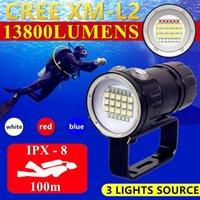 Другое светодиодное освещение 15 * CREE XM-L2 Профессиональный дайвинг подводный водонепроницаемый тактический факел мощный ламп подводный 100 м погружение