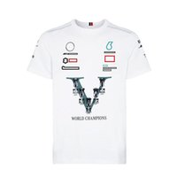 F1 Formula One Team Racing Suit T-shirt Short Sleeve Round Neck For Fans The same style of car logo Fashion clothing can be customized