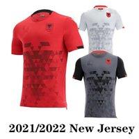2021 2022 ألبانيا الصفحة الرئيسية كرة القدم الحمراء جيرسي 21/22 ألبانيا قمصان كرة القدم البيضاء الثالثة خارج الفريق الوطني الأسود