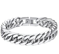 15mm 9 Inch Stainless Steel Franco Chain Bracelet For Mens Women Trendy Chunky Link Classic Jewelry(Gift Wrapped)