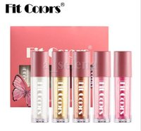 Fit Colors 5pcs / Set Lips Glitter Star Lip Gloss Glow Glow Shimmer Liquid Lift Kit Shiny Lipgloss Set