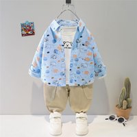 Clothing Sets HYLKIDHUOSE 2021 Autumn Baby Boys Kids Cartoon Shirt Pants Children Casual Cotton Outfit Toddler Infant Clothes