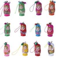 Клазочки русские гнездовые куклы матрешка кукла кукла цепь для телефона вешалки висит подарочные сумки марионетки staing набор для домашнего офиса украшения