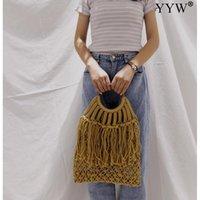 Evening Bags Straw Tassels Handbag Womens Hand Arrival 2021 Big For Women Luxury Designer Bolsos Para Mujer Clutch