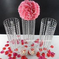 Party Decoration 60cm Tall )10pcs)s Crystal Chandelier Wedding Centerpieces Flower Stand , Table