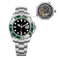 워치브 -U1 42mm 망 자동 기계식 시계 빛나는 방수 고전적인 복고풍 산업 스타일 비즈니스 패션 스테인레스 스틸 스트랩 중공 시계