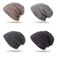 Winter Popular Mens Gift Handmade Multi Colors Woolen Yarn Resistance Cold Beanie Cap for Sale ps0789