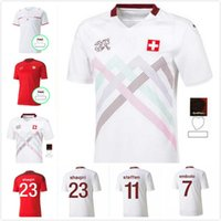 Высокое качество 20 21 Швейцария Футбол Футбол Лебей 2021 2022 Главная Аканджи Закария Родригес Эльведи сборные футболки