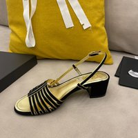Balık ağız kadın 2021 sandalet yüksek topuklu moda kalın topuk yaz vahşi ince kayış Roma ayakkabı büyük boy kadın