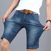 2018 sommer männer mode gerade denim shorts / männlich casual schlank hübsche high elastizität kurze cowboy jeans s4ho #