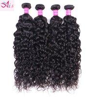 Peruvian Indian Malaysian Brazilian Virgin Hair Weave Bundles Water Wave Human Hair Extensions Natural Color 10-30 Inch 4 Bundles