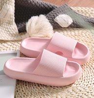2021SS 남성 여성 슬라이드 슬리퍼 두꺼운 플랫폼 여름 해변 에바 에바 소프트 솔 슬라이드 샌들 레저 숙녀 실내 욕실 안티 - 슬립 신발 A33