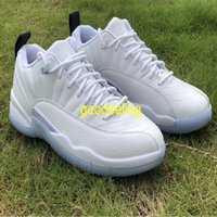"""Mens Top Authentic 12 12s Basketball Shoes Low""""Easter""""Trainers Real Carbon Fiber Luxury designer Twist University White Jumpman 23 Outdoo Sport Sneakers with box"""