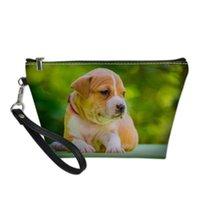 Pochette الأمريكية staffordshire الكلب عاشق الكلب مصمم التجميل حالة حقيبة ماكياج مربع الحقيبة حقائب السفر حقائب