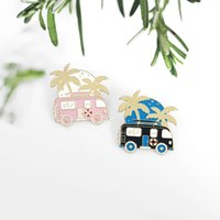 Coconut bus cartoon badge travel bus takes you to the distan...