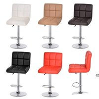 Swivel Hydraulic Height Furniture Adjustable Leather Pub Bar Stools Chair Cashier Office Stool Reception Chairs Rotate sea ship DHE9404