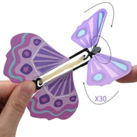 Fiesta de hadas de goma de goma con motor de viento, mariposa volando sorpresa de cumpleaños boda regalo mágico se escondió en la tarjeta
