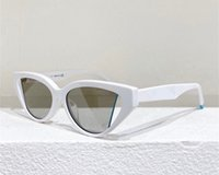 Beliebte Trend Frauen Sonnenbrille 40009 Retro Cat Eye Kleine Rahmen Hohllinse Sonnenbrille Mode Charme Stil Anti-Ultraviolett-Schutz Kommen Sie mit Fall