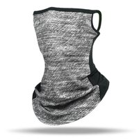 Cycling Bandana Breathable Mesh Magic Scarves dustproof Face Cover Half Mask Hang-Ear Ice Silk Neck Gaiter Cool Tube Scarf for Sport Running Hiking Hunting Men Women