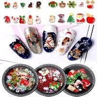 Nail Art Decorations 1 Box Christmas Tree Sock Snowflake Alloy Metal DIY 3D Rhinestones Accessories Jewelry Tools