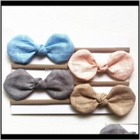 Pony Tails Holder Jewelry Drop Delivery 2021 Bunny Ear Cotton Headbands Children Hair Accessories Kids Turbon Knot Hairbands Baby Girls Bow H