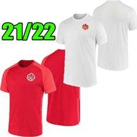 21/22 de alta qualidade Mais novo Canadá Soccer Jerseys National Social Home Red Away Branco Kits 2021 2022 Davies David Larin Cavallini Laryea Millar Hoilett Camisas de futebol