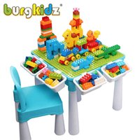 Çocuklar Etkinlik Masa 128 ADET ile Büyük Yapı Taşları Kök Eğitim Çocuk Masa Büyük Blok Montessori Oyuncaklar Kız Erkek 210330