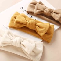 28pc/lot Baby Bow Headband Girls 2020 Elastic Bands Kids Solid Turban Cotton Head Wraps Children Hair Accessories