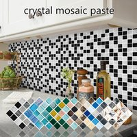 Wallpapers 15pcs 3d Self Adhesive Crystal Mosaic Sticker For Living Room Bedroom Walls Bathroom Kitchen Decoration Waterproof