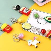 파티 호의 크리 에이 티브 귀여운 성격 키 펜던트 만화 흰색 말 Keychain 가방 액세서리 남성과 여성 자동차 반지 HWF7596