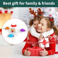 Christmas Santa Claus Squid Game Rocket Fidget Finger Spinner Toys Changing Style Push Bubble Decompression Toy x2222c