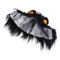 Cat Costumes Funny Small Dog Cosplay Lion Wig Head Cap Hat With Ear For Pet Dress Up