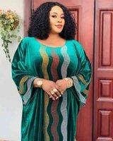 Günlük Elbiseler Hgte Kadife Afrika Kadınlar Için Sonbahar Afrika Giyim Müslüman Uzun Maxi Yüksek Kalite Moda Lady F6PH