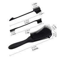 Pennelli per capelli Detanging Brush Set con bordo Bordo e pettine Pennello per la pulizia, Detangler per donna afro strutturata 3A a 4C Olio Long GXMC