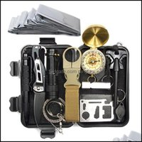 Gadgets And Cam Hiking Sports & Outdoorsmtifunction Edc Sos Survival Tool Outdoor Gear Storage Box Kit With Tactical Pen Flashlight Bracelet