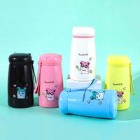 12oz 350ml Fashion Cartoon Tumblers Personalized Mugs Car Portable Glass Cup Cute Student Cups Tumbler Coffee Mug Wholesale