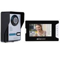"KKmoon 7"" TFT Color LCD Display Video Door Phone Intercom Doorbell System Kit IR Night Vision Rainproof Security Camera For Home Phones"