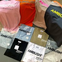Ambush T-Shirt Wen 1: 1 Hohe qualität solide 8 farbe schwarz weiß khaki blau t shirts teen hip hop sommer style admush t shirt mx200509
