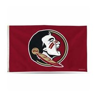 Custom Digital Print 3x5ft Premium Flags Outdoor Sport NCAA Colleges Football Florida State University Seminoles FSU Flag Banner for Supporter and Decoration