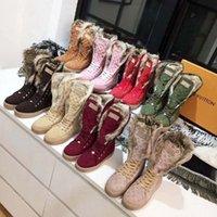 겨울 뜨거운 판매 패션 럭셔리 디자이너 부츠 스노우 부츠 스웨이드 따뜻한 35-41 벨트 상자 Shoe008 2602